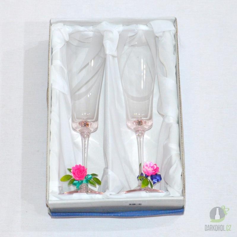 Hlavní kategorie - Pískované sklenice na víno 0,2l růžové- poslední kus!!!