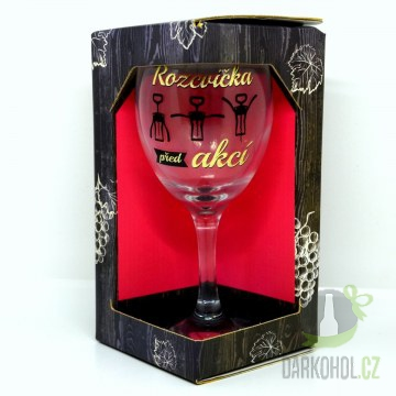 IMPORT - Sklenice na víno glitter Rozcvička
