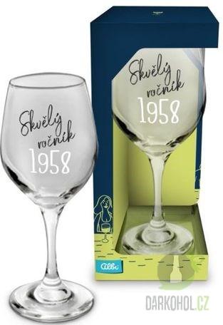 Hlavní kategorie - Sklenice na víno Skvělý ročník 1958