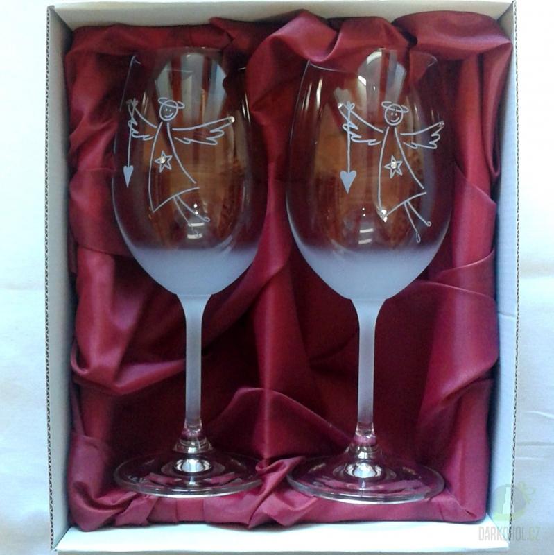 Hlavní kategorie - Sklenice pískované na víno -   Dětský anděl 0,3l