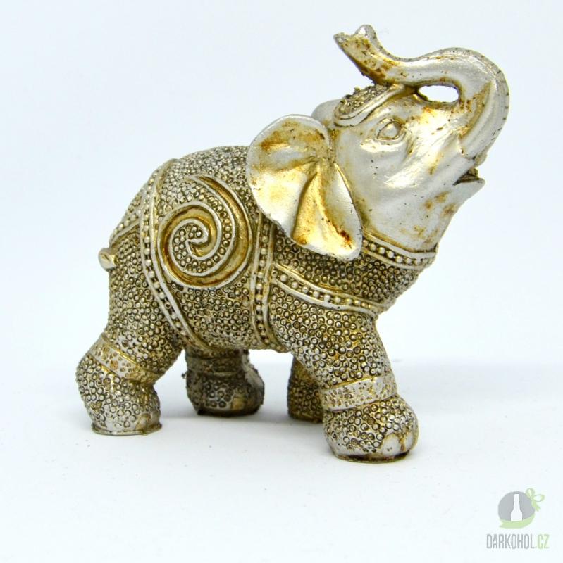 Hlavní kategorie - Slon stříbrný polyston-9cm