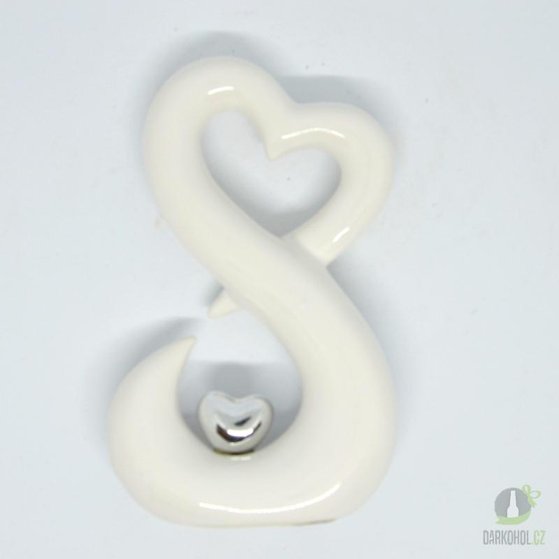 Hlavní kategorie - Srdce bílé / stříbrné 16cm