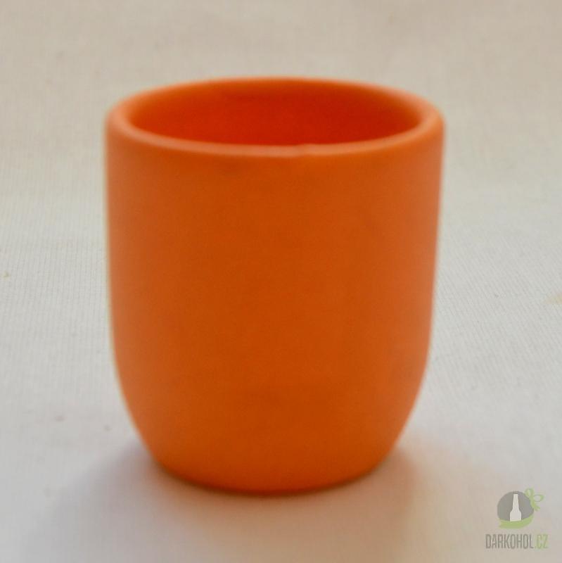 Hlavní kategorie - Panák keramický oranžový/žlutý