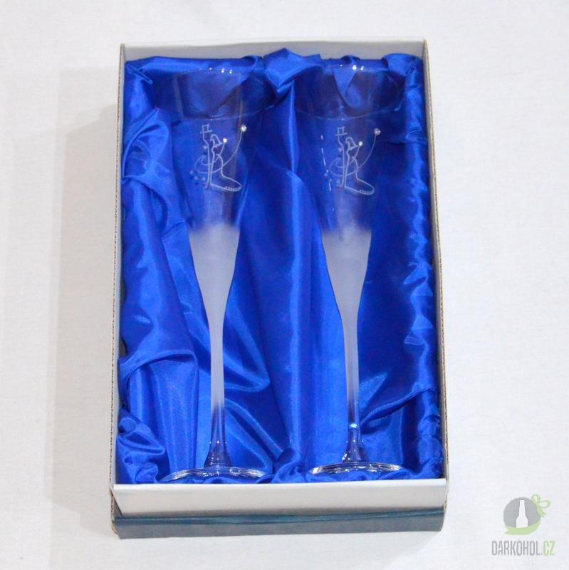 Hlavní kategorie - Svatební pískované sklenice na víno šampus 0,2l Tančící pár
