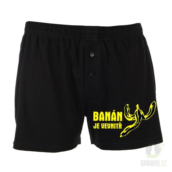 Hlavní kategorie - Trenýrky černé-Banán je uvnitř