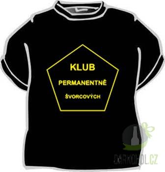 Hlavní kategorie - Triko Klub permanentně švorc.XLčerné