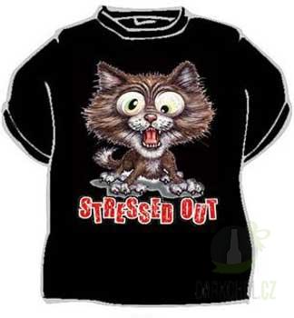 Hlavní kategorie - Triko Stress out kočka černá