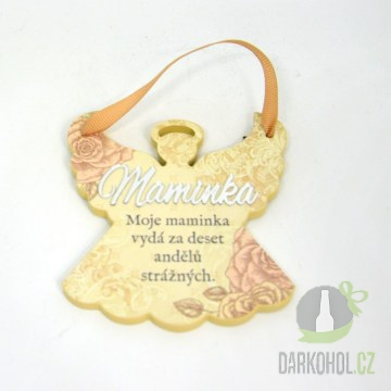 Hlavní kategorie - Závěsná plaketka anděl Maminka-poslední kus!