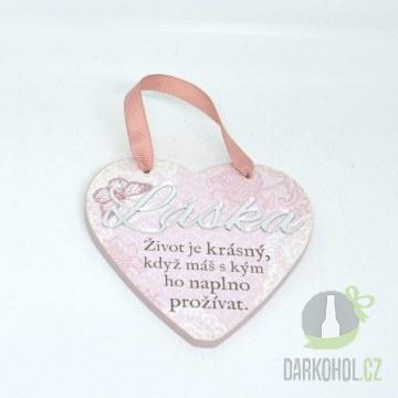 Hlavní kategorie - Závěsná plaketka srdce Láska-poslední kus!