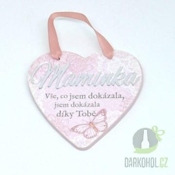 Hlavní kategorie - Závěsná plaketka srdce Maminka-poslední kus!