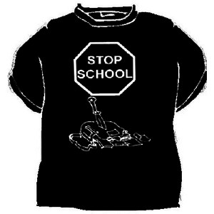 Triko Stop school černá