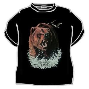 Triko medvěd černá