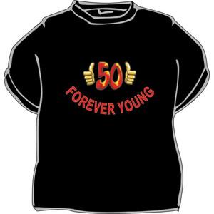Triko Forever young 50 černá