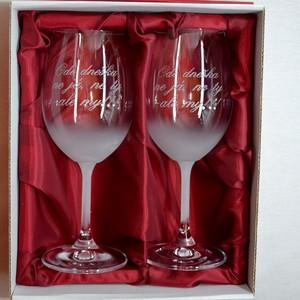 """Svatební pískované sklenice na víno - """" Ode dneška... """" 0,3l"""
