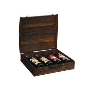 Dřevěný box na 4 lahve