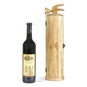 Dřevěný box na 1 lahev - hasičák