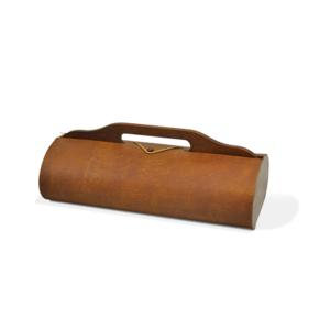 Dřevěný box na 2 lahve tmavý