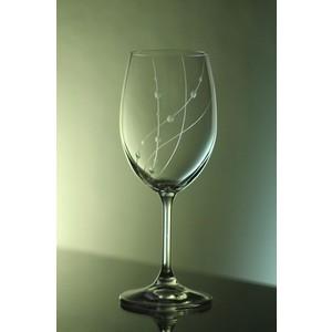 Ručně rytá sklenice na víno Klára -korále 250ml