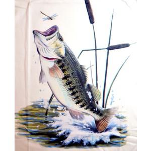 Triko Ryba ve skoku bílá