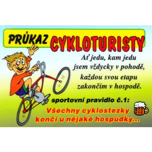 Cedulka Cykloturista