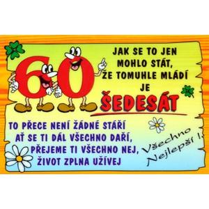 Cedulka 60 let