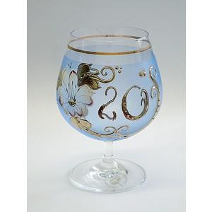 Číše výroční ručně malovaná -20let modrá