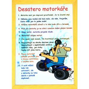 Rámeček střední-Desatero motorkáře