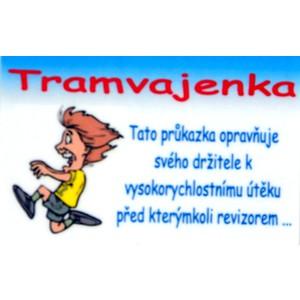 Cedulka Tramvajenka