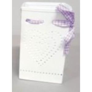 Svítilna hranatá fialová stuha 20cm - plech