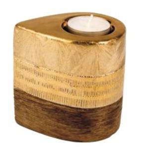 Svícen zlatý keramický 11 cm