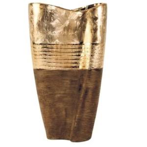 Váza konus zlatá 36 cm - keramika