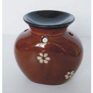 Keramická aromalampa -selská hnědá