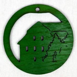 Ozdoba Radnice v kruhu zelená