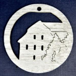 Ozdoba Radnice v kruhu stříbrná