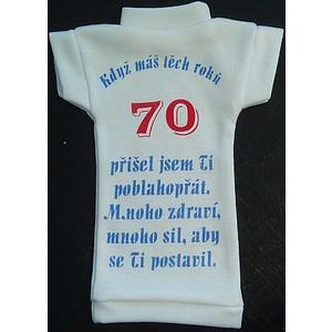 Tričko na láhev- Výročí modré70