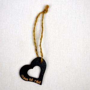 Srdíčko velké černé otvor-mám tě rád