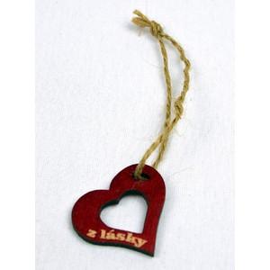 Srdíčko velké červené otvor-z lásky