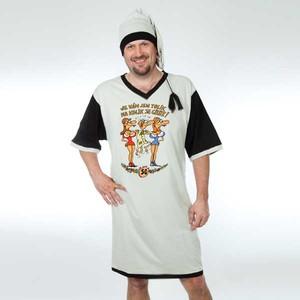 Noční košile šedá s čepičkou-Výročí muž 50
