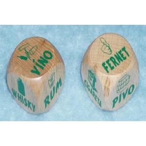 Dřevěná kostka-Alkohol