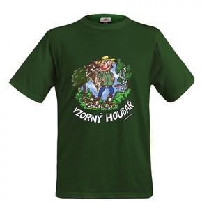 Triko Vzorný houbař .zelená