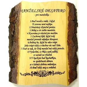 Žertovná tabulka nástěnná Desatero Manželské pro manželku
