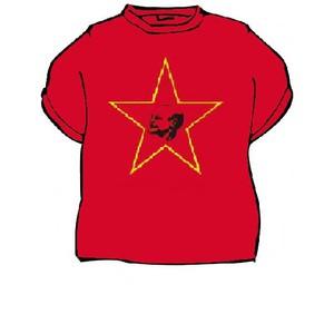 Triko Lenin červená
