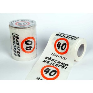 Toaletní papír Happy Brithday výr40