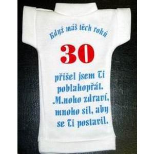Tričko na lahev -Výročí modré 30