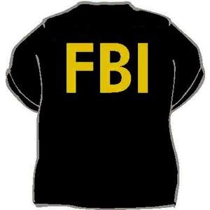 Triko FBI černá