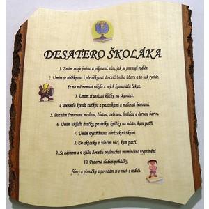 Žertovná tabulka nástěnná Desatero Školáka
