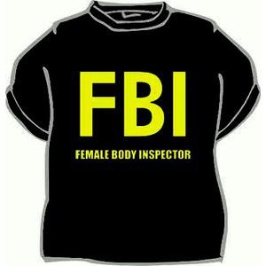 Triko FBI female... černá