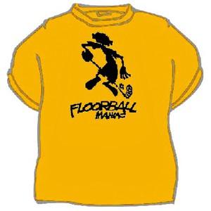 Triko Floorball maniac žlutá