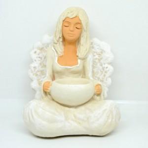 Anděl sádrový Fanny turecký sed svícen