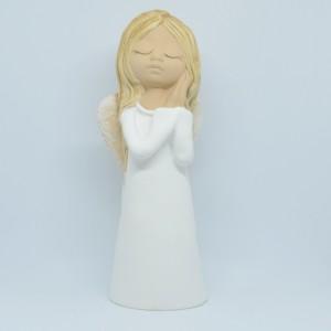 Anděl žena Giga -bílý,29cm,polystone